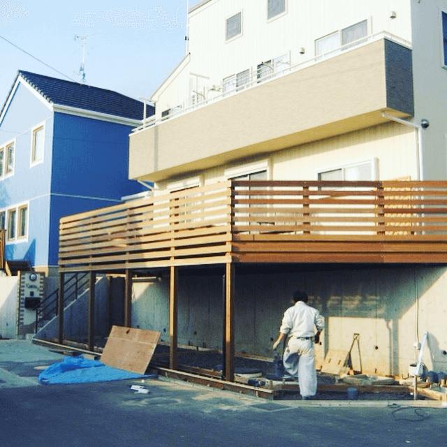 クラフトマンシップ ウッドデッキ施工例:ST様邸ウッドデッキ 東京都多摩市-NO.1 五感で感じるハイデッキ