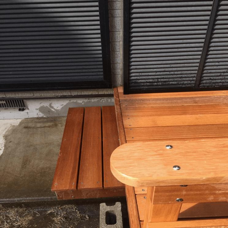 クラフトマンシップ ウッドデッキ施工例:S様邸ウッドデッキ 千葉県柏市-NO.2 孫と日向ぼっこ