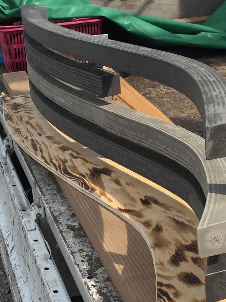 クラフトマンシップ ウッドデッキ施工例:よこ曲げデッキ材-NO.7 世界基準のウッドデッキ