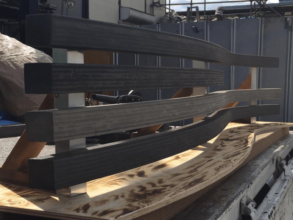 クラフトマンシップ ウッドデッキ施工例:よこ曲げデッキ材-NO.8 世界基準のウッドデッキ