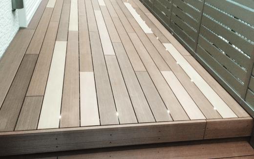 最新の機能を持ったウッドデッキをアンティーク調に-A様邸ウッドデッキ_西東京市_写真1