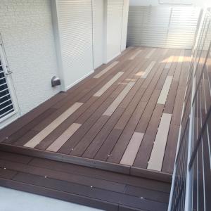 最新の機能を持ったウッドデッキをアンティーク調に-A様邸ウッドデッキ_西東京市_写真2