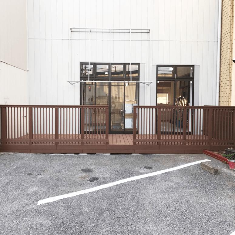 クラフトマンシップ ウッドデッキ施工例:保育園 千葉県-NO.1 子供が安心できて遊べる空間