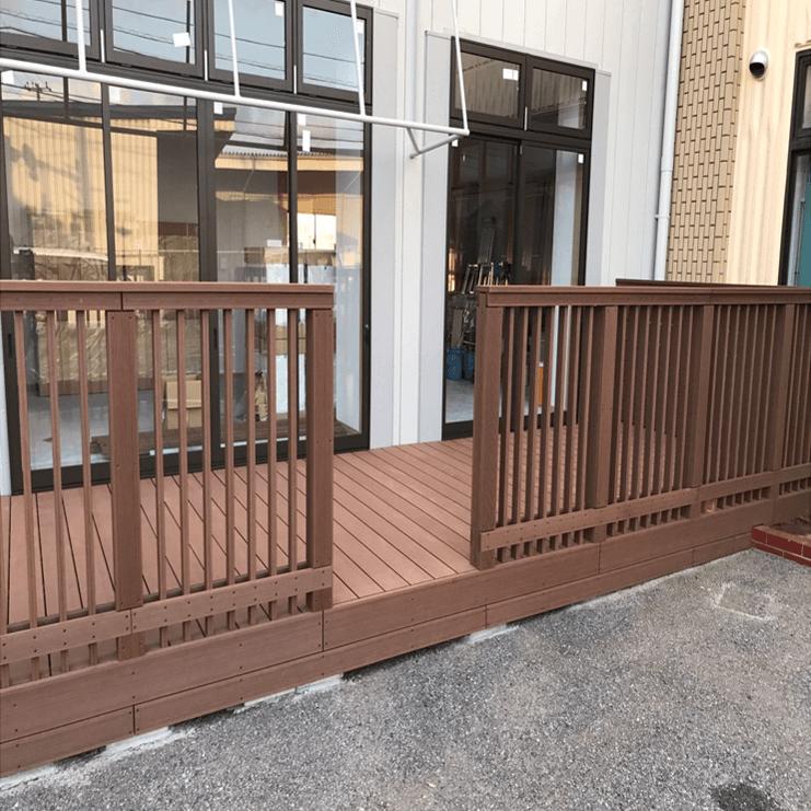 クラフトマンシップ ウッドデッキ施工例:保育園 千葉県-NO.2 子供が安心できて遊べる空間