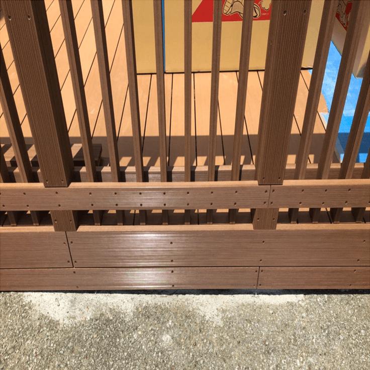 クラフトマンシップ ウッドデッキ施工例:保育園 千葉県-NO.4 子供が安心できて遊べる空間