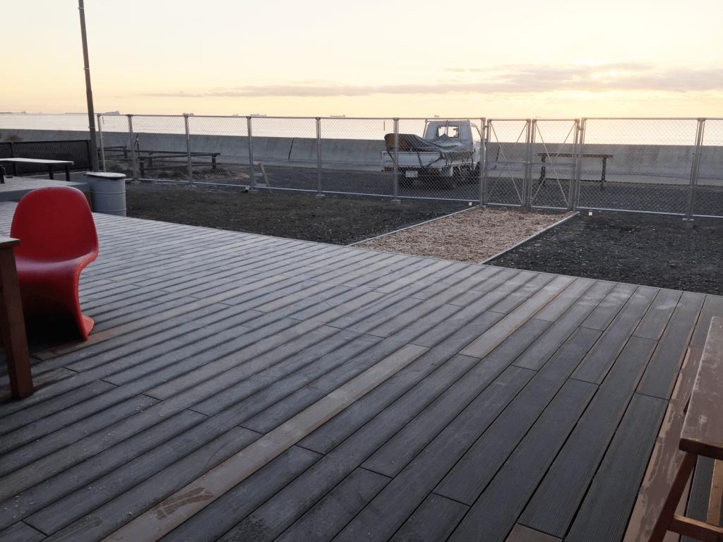 クラフトマンシップ ウッドデッキ施工例:福島ベース-NO.7 USA USA USA