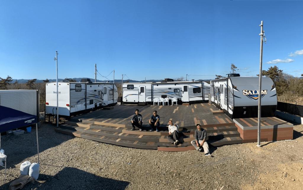 クラフトマンシップ ウッドデッキ施工例:福島ベース シーオリーブ-NO.8 海を眺めるウッドデッキ