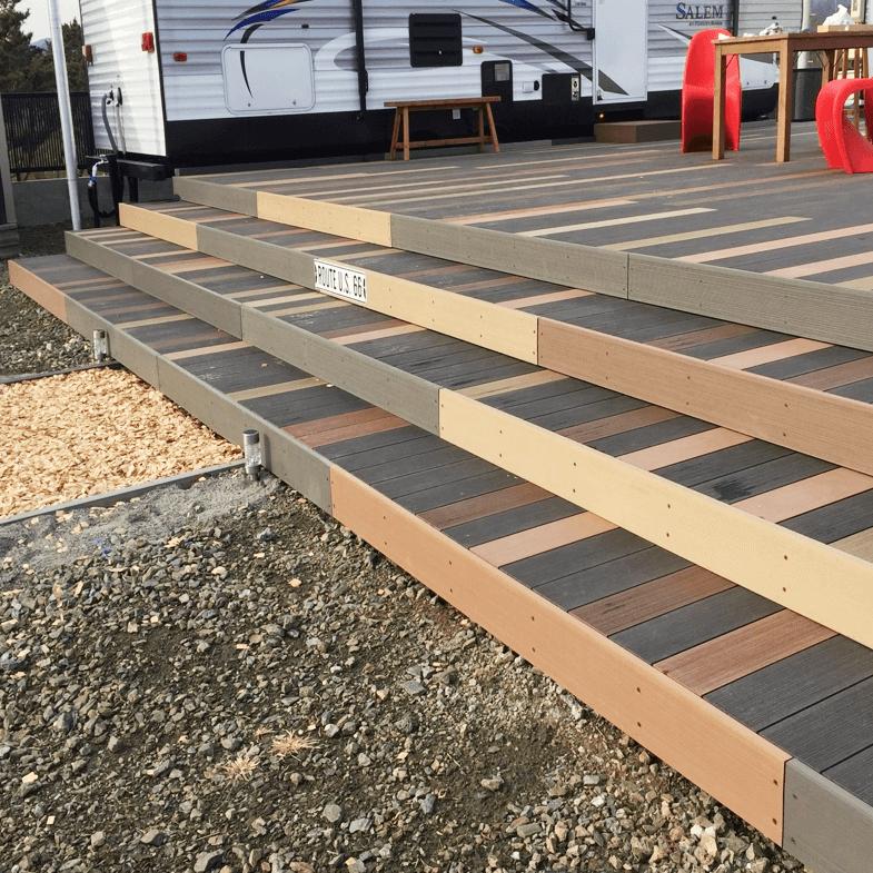 クラフトマンシップ ウッドデッキ施工例:福島ベース-NO.3 五感で感じる空間