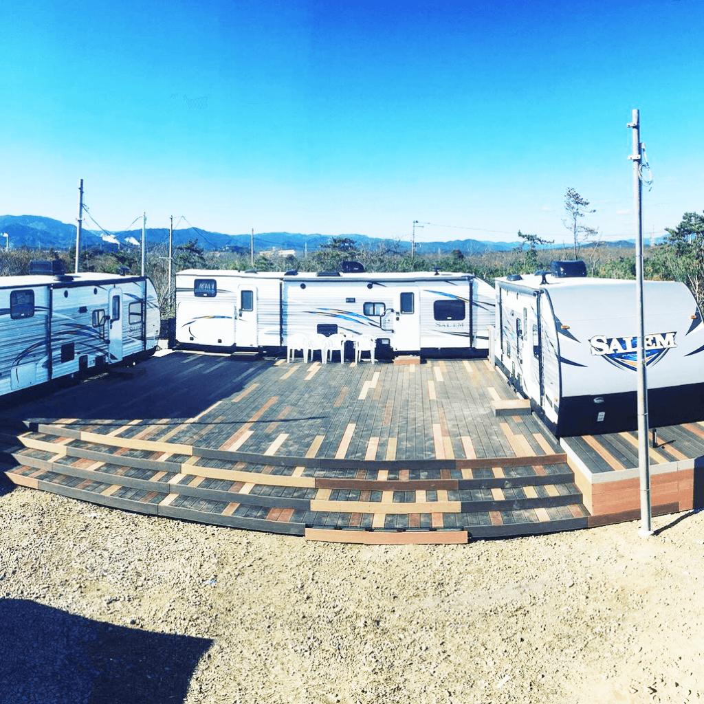 クラフトマンシップ ウッドデッキ施工例:福島ベース-NO.6 五感で感じる空間
