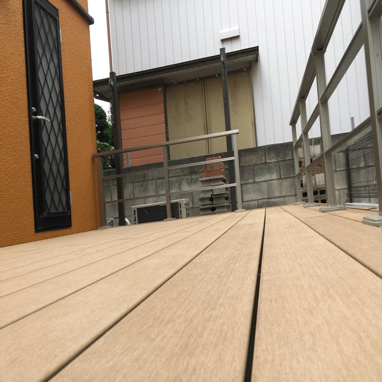 クラフトマンシップ ウッドデッキ施工例:介護用ウッドデッキ 草加市-NO.2 介護用ウッドデッキ