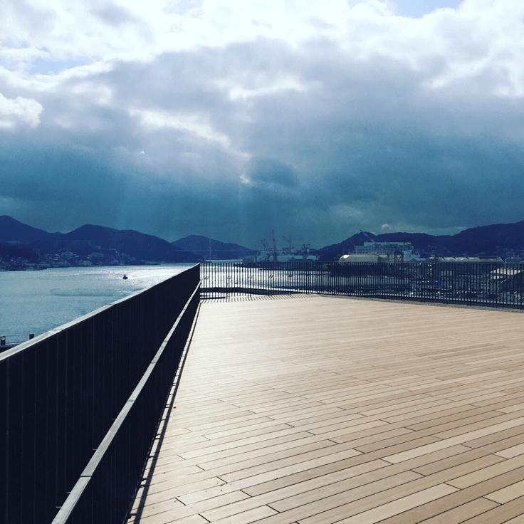 クラフトマンシップ ウッドデッキ施工例:長崎県某所展望デッキ 長崎県-NO.2 海の見える展望デッキ