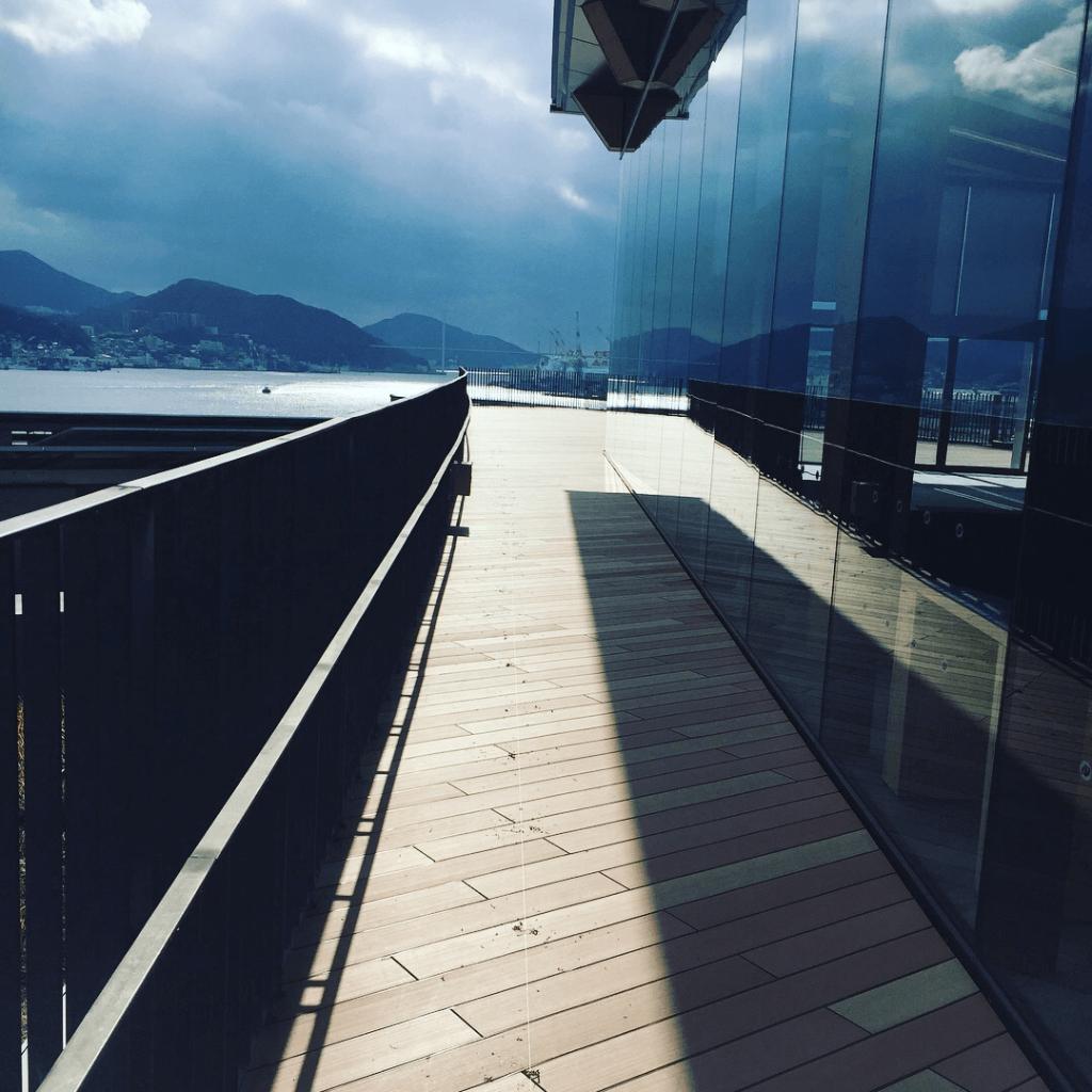 クラフトマンシップ ウッドデッキ施工例:長崎県某所展望デッキ 長崎県-NO.3 海の見える展望デッキ