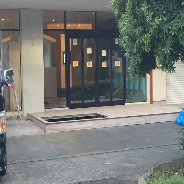 クラフトマンシップ ウッドデッキ施工例:保育園 静岡県-NO.4 安全かつ子供をすくすく育てたい