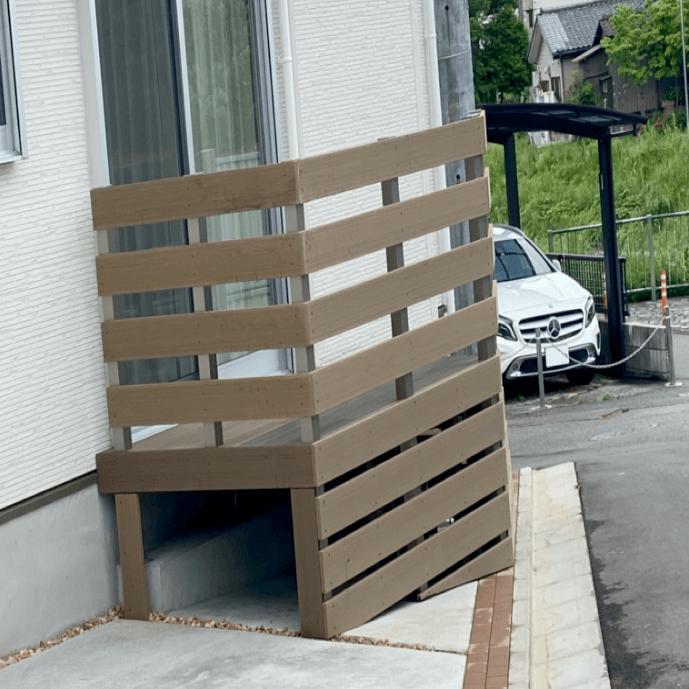 クラフトマンシップ ウッドデッキ施工例:H様邸 東京都東久留米市-NO.4 出入りが不便でもウッドデッキで解決
