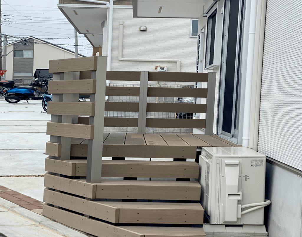 クラフトマンシップ ウッドデッキ施工例:H様邸 東京都東久留米市-NO.5 出入りが不便でもウッドデッキで解決