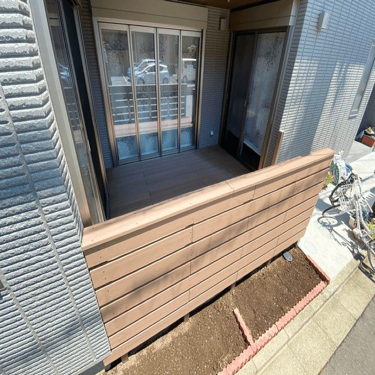 クラフトマンシップ ウッドデッキ施工例:S様邸 埼玉県所沢市-NO.2 ミッドエリアをウッドデッキ でフラット通行